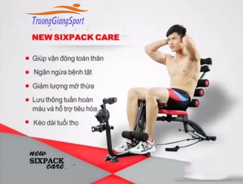 Máy Tập Cơ Bụng New Six Pack Care Có Đạp Xe