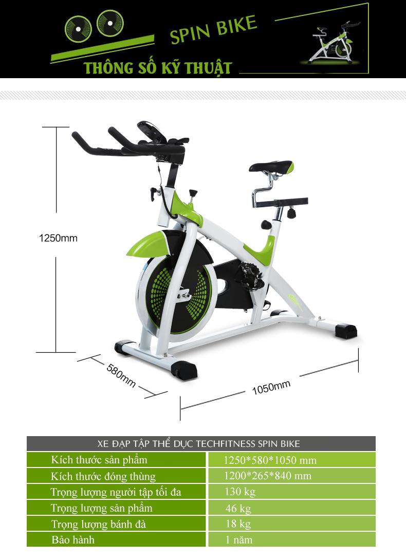 Xe Đạp Tập Thể Dục Spin Bike - 3